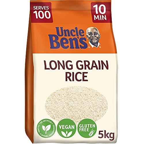 UNCLE BEN'S Riz Long Grain Cuisson Rapide 10 Min Vrac sans Gluten 5 kg