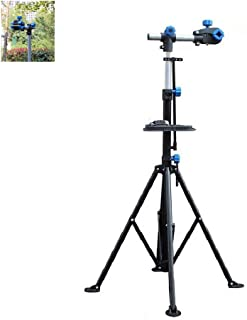 """Gluckluz Bike Repair Stand Mechanic Bicycle Workstand Home Cycle Maintenance Rack Adjustable Height 41"""" to 75"""" for City Ro..."""