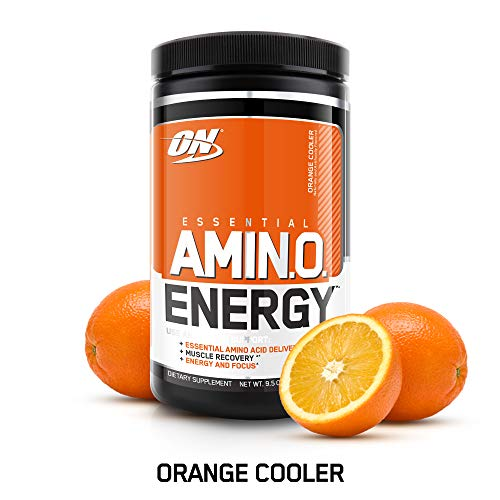 OPTIMUM NUTRITION ESSENTIAL AMINO ENERGY, Orange Cooler, Keto Friendly Preworkout and Essential Amino Acids with Green Tea and Green Coffee Extract, 30 Servings