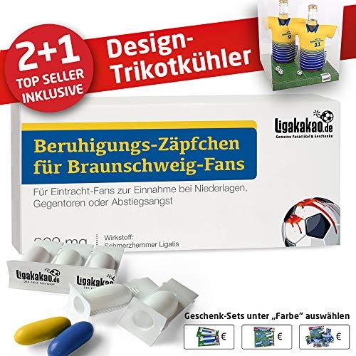 Alles für Braunschweig-Fans by Ligakakao.de Home-Trikot ist jetzt Mein TRIKOTKÜHLER Geschenk-Set (2X Trikots + 1 ZÄPFCHEN)