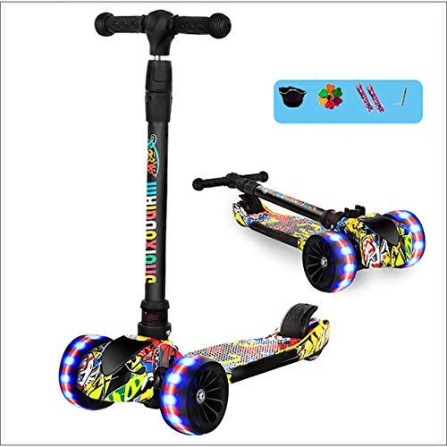 MOKY 2-en-1 Vespa Niños - Ciudad de ciclomotores, Star-Scooter Pro Sport, 3 Ruedas bebé Patinete Scooter - Los Adolescentes y la Edad de los niños 2+ años Niñas