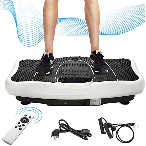 SUNWEII Placa vibratoria Fitness, Entrenador de vibración Profesional, vibración basculante 2D + Bluetooth con Altavoz, para musculación y Entrenamiento en casa