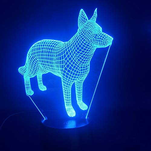 3D Table Lamp Dog Animal Color Change Table Lamp Visual USB Table Lamp Bluetooth Speaker Base