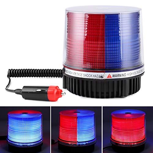 SyeRum LED Rundumleuchte,Kabellose Magnet Warnleuchte,Autotür-Warnlicht mit dem Roten und Blauen,12 V Warnlicht Röhrenblitz-blinkenden Geführten für Auto