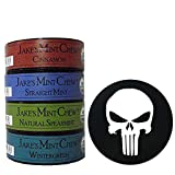 Jake's Mint Chew Minty Sampler 4 Can Variety with DC Crafts Nation Skin Can Cover - Punisher