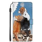 S-M12 Funda para Samsung Galaxy NOTE4 Funda Flip Cuero de la PU + TPU de Silicona Protección Case Cover