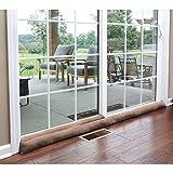 HOME DISTRICT Sliding Door Draft-Dodger - Weighted Patio Door Breeze, Bug and Noise Guard ...