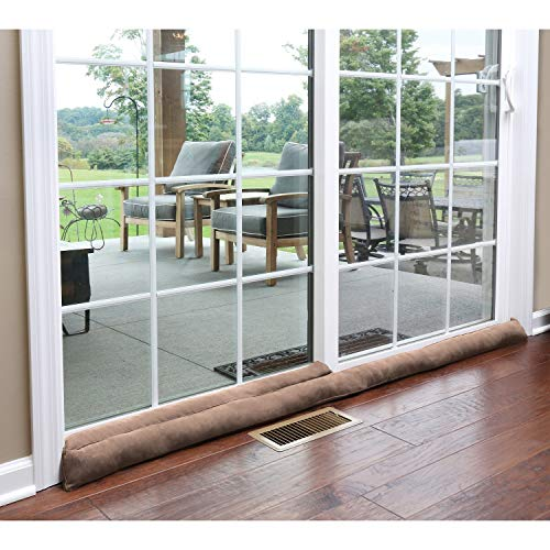 of sliding doors HOME DISTRICT Sliding Door Draft Dodger - Weighted Patio Door Breeze, Bug and Noise Guard Stopper Blocker - Approx. 71