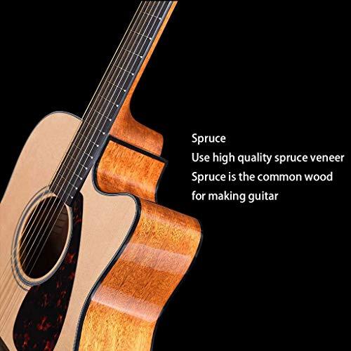 Instrumentos musicales Guitarra eléctrica Yamaha Fg800 Junta Folk eléctricos Box Principiante Hombres Mujeres alumno y 41 Pulgadas Guitarras (Color : Beige, Size : 130 * 40 * 12cm)