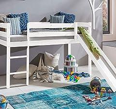 Kleur wit kinderbed stapelbed met Slide Ladder High Bed Play Bed Pine Solid *
