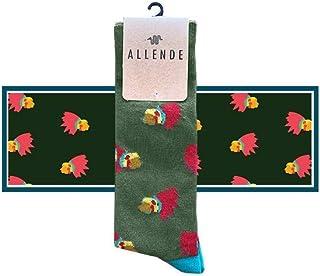 Allende   Par de Calcetines de diseño 'Penachos' artesanal, unisex maquilado en Puebla