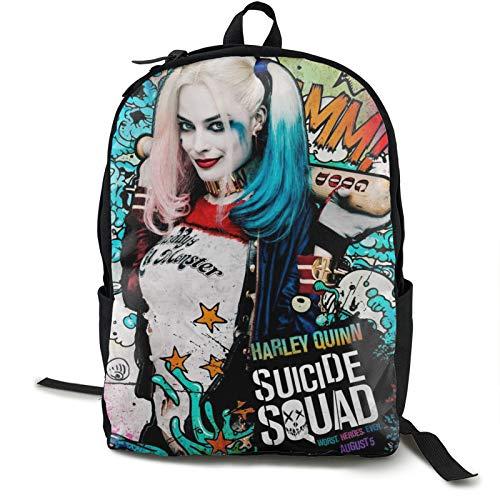 Suicide Squad Harley Quinn (24) Zaino Per Scuola College Studente Bookbag Business Laptop Viaggio Petto Bagagli Cinghie Luce Notte Riflettente