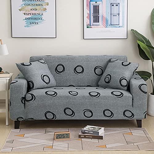 WXQY Funda elástica para Muebles, Funda para sofá elástica para Sala de Estar, Funda para sofá para sillón, Juego de Funda para sofá Todo Incluido a Prueba de Polvo A25 2 plazas