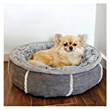 Rosewood Soft Luxurious And Comfortable Cat Dog Donut Bed With Anti Slip Base,  51 cm, Grey