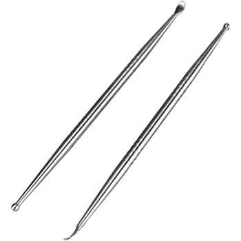 Airgoesin 2pcs Tonsil Stone Removal Pick Tonsillolith Premium Tool Stainless Steel Oral Cleaner