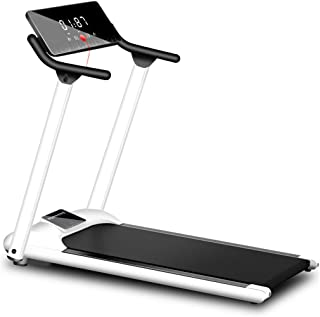 INiubi New Folding Fitness Motorized Running Jogging Machine Portable Space Saving Electric Treadmill for Home Gym(White)