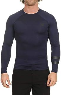 Hurley Men's Long Sleeve Pro Light Quick Dry Sun Protection Rashguard Shirt, Obsidian