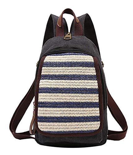MKeDa Kleine leinwand rucksack mode diebstahl schule rucksack jungen hotstyle dayback modernistlook fitness rucksack (gelb)