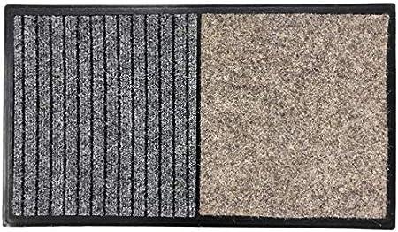TIENDA EURASIA® Felpudo - Alfombra Desinfectante Calzado para la Entrada - 3 en 1 - Base de Caucho con 2 Divisiones (Desinfección - Secado) - 60x80 CM - Fabricado en España (40x70 cm - Beige): Amazon.es: Hogar