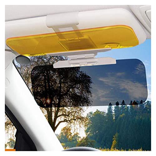 ZHANGQING QQINGZHANG Coche Sun Visor HD Anti-Luz Solar Dazzling Goggle Día Noche Visión de la Visión Conducción Espejo UV Fold Flip Down Borrar Vista Interior Espejos