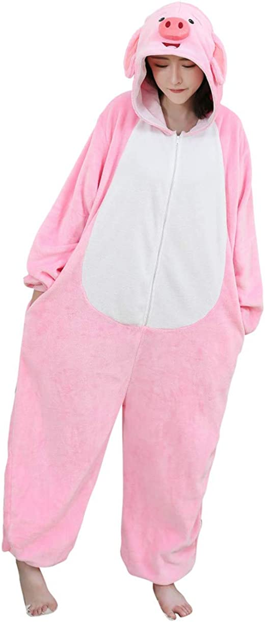 Sales results No. 1 famous ALOVEY Unisex Pig Pajamas Cosplay One Piece Homewear Jump Animal