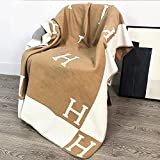 Warm Shawl H Blankets Super Soft Fleece Blanket Travel Outdoor Lightweight All-Season Throw Blanket Halloween Decoration 51x70 Inch New Khaki