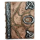 Hocus Pocus Buch der Zaubersprüche Requisite - Zauberbuch Halloween Dekoration Latex Necronomicon Kostüm Notizbuch Tagebuch Full Book with Pages