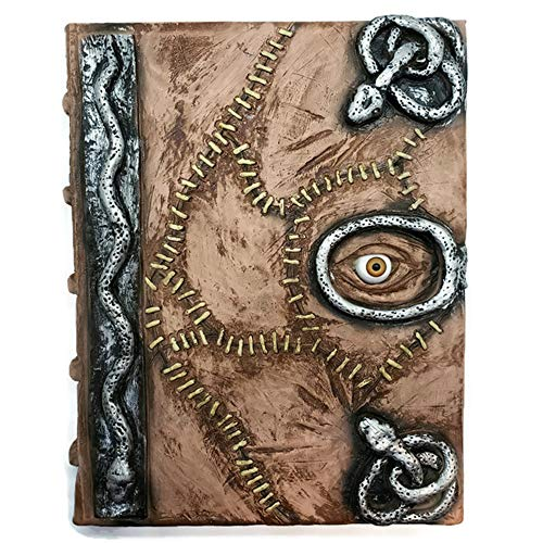 Hocus Pocus book of spells prop - spellbook halloween decoration latex necronomicon costume notebook journal (Full Book with Pages)