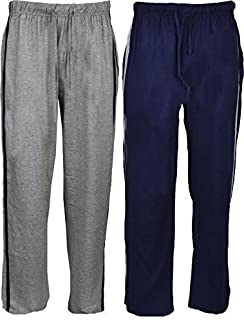 2 Pack Mens Plain Lounge Pants Jogging Bottoms (XL, Navy/Grey - 2 Pack)