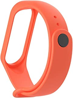 Mi cosa Orange Strap (only for mi Band 3i, 3 and 4) (NOT for mi Band 2/HRX) Xiaomi Mi Band 3/Mi Band 4 Band, Wristband Strap Accessories for Xiaomi Mi Band 3/Mi Band 4 Bracelet(Not for Mi Band 2/1S)
