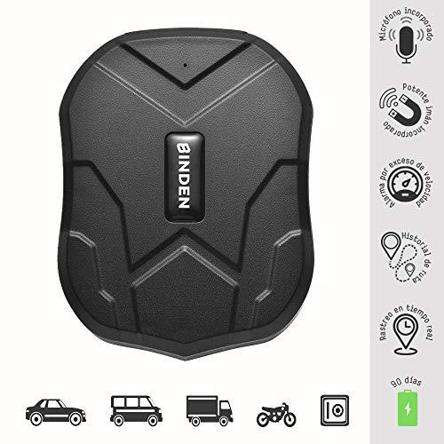 BINDEN Rastreador GPS TK905 con Potente Imán Ideal para Vehículo o Moto, Batería por hasta 90 Días,…
