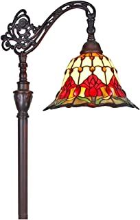 Tiffany Style Floor Lamp Arched Adjustable 62