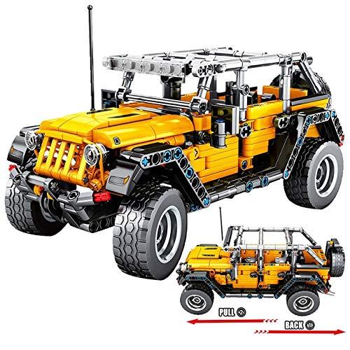 AIMG 601 Uds Creador mecánico Pull Back Jeeped Off-Blocks para City Technic Coche Ladrillos Juguetes para niños construcción de vehículos de Carretera