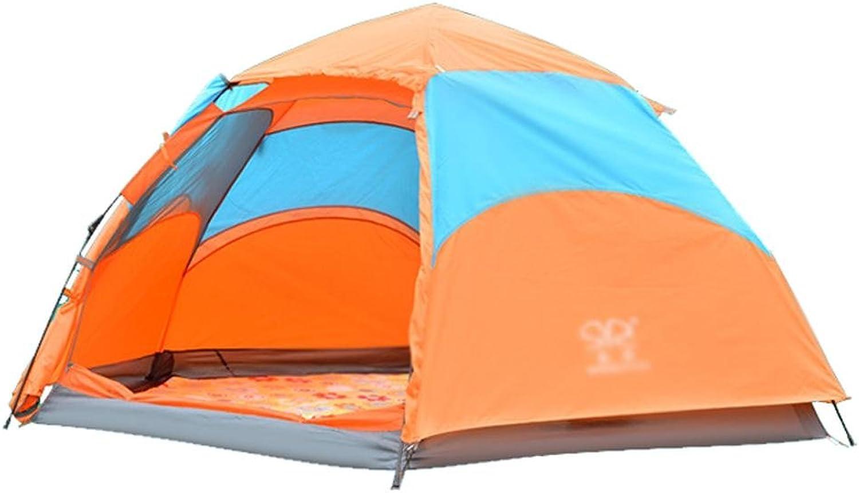 SZH&ZPT Vollautomatische Zelt Hexagonal 3-4 Personen Glasfaser-Pole Double-Layer-Regenschutz B071RG432T    Vollständige Spezifikationen 84bf13