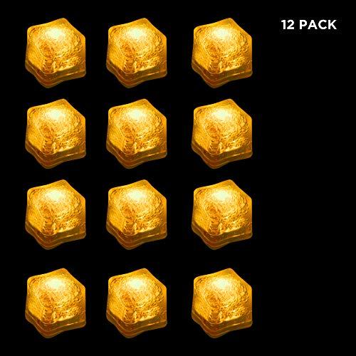 LED Yellow Ice Cubes