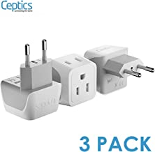 European Travel Plug Adapter by Ceptics Europe Power Adaptor Charger Dual Input –..
