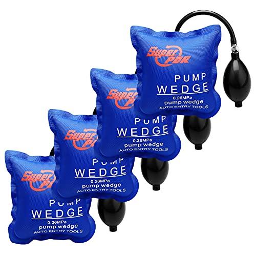 Fly5D Coussin de levage gonflable bricolage Pump Wedge Chaque pièce peut supporter 200 kg leve meuble charge lourde coussin de levage (4 Pcs)
