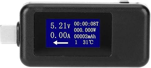 USB-tester type C, multifunctionele bidirectionele stroomspanning-gelijkstroom-digitale voltmeter zwart