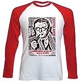 Photo de teesquare1st Men's Jean Paul Sartre Commitment Quote Red Long Sleeved T-Shirt Size XXLarge par