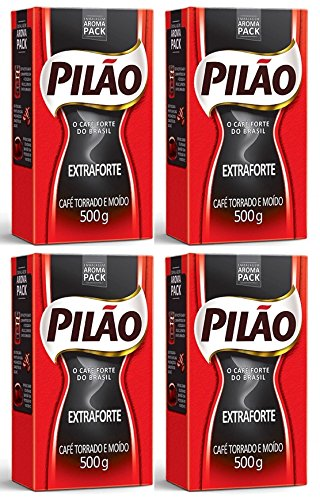 Pilão Extra Strenght Coffee 17.6oz | Café Extra Forte 500g (PACK OF 04)