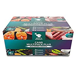 MULTIPACK FOR GREAT TASTE AND NUTRITION: The box of 6 contains 2 cans each of the Salmon, Venison, and Wild Boar flavoured wet dog food. Salmon is rich in Omega 3 fatty acids, which support healthy skin and a shiny coat while Venison has beneficial a...