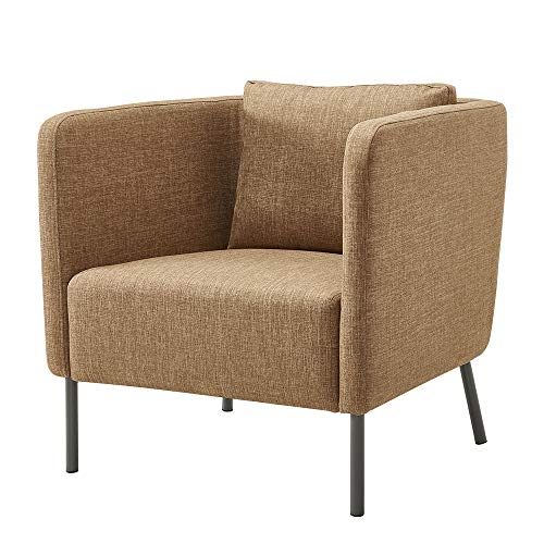 Panana Fabric Accent Chair Living Room Armchair Tub Side Chair Sofa Lounge Chair With Back Cushion (Beige)