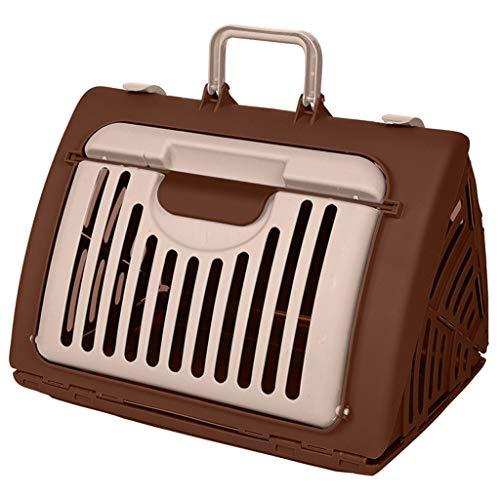 ZZL Transportador Mascotas Mascota Fuera de la Caja de Aire Plegable de la Maleta, se Puede Transportar con Aire, Mochila del Perro del Gato, Verde Mochila Gato (Color : Brown)