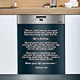 Quote Robin Williams Don T Worry Life Spectacular Dishwasher Cover Kitchen Decor Dishwasher For Home Decorative Best Idea For Mothers Fathers Day