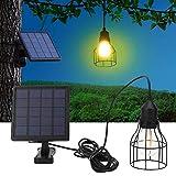 JadpesLuz de la lámpara del Panel Solar, E27 LED Luces solares domésticas...