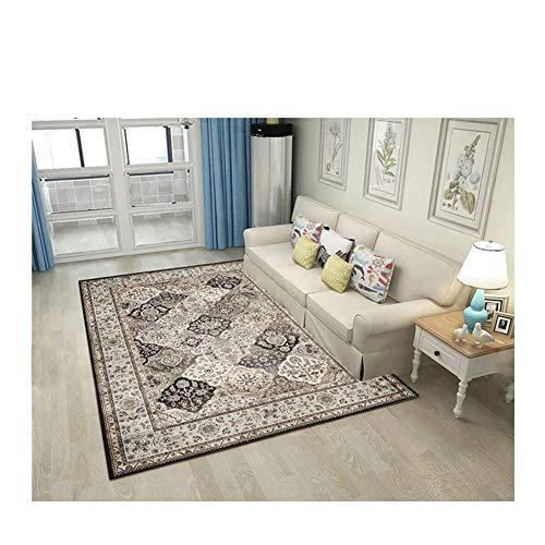 LXXTI Traditioneel klassiek tapijt, 160x230cm, Perzisch Heriz Keshan patroon - bloemen ornamenten - onderhoudsvriendelijk 160 x 230 cm 8