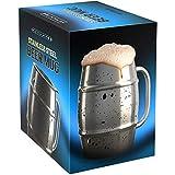 Nuvantee Boccale di birra – Boccale in Acciaio Inox / Tazza da caffè con...