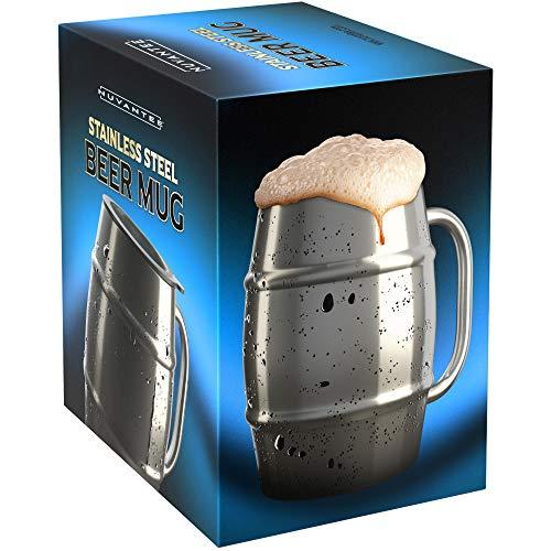 Chope à bière Innovee - Chope de première qualité en acier inoxydable...