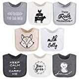 The Peanutshell Terry Bib Set for Baby Boys or Girls, 8 Pack Unisex Set for Feeding, Teething, Drooling