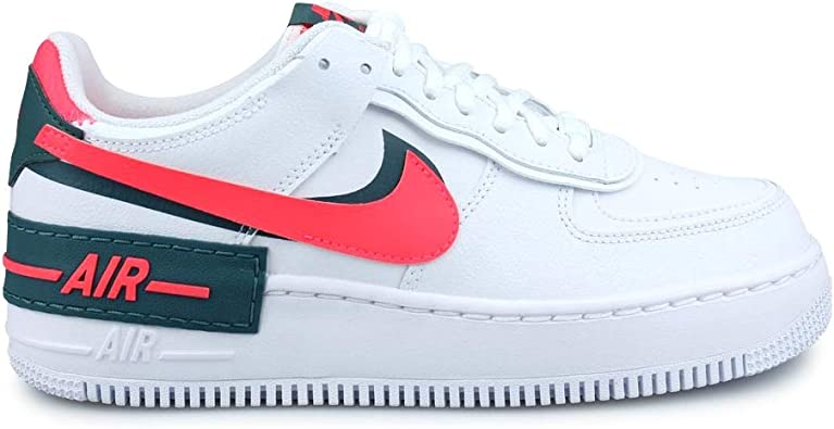 Nike Womens Air Force 1 Shadow White Red DB3902-100
